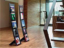 Curved Five Shelf Magazine Rack