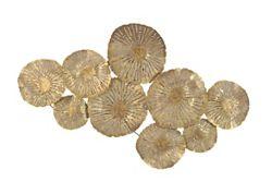 Large Circles Gold Metal Art