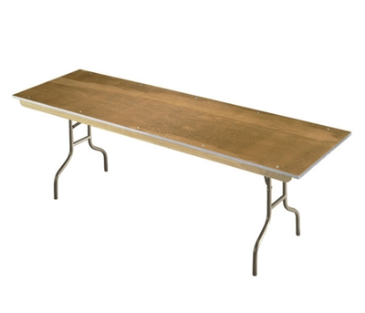 "Plywood Folding Table with Wishbone Legs - 32"" x 72"""