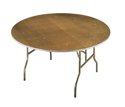 "Plywood Folding Table with Wishbone Legs - 48"" Dia"
