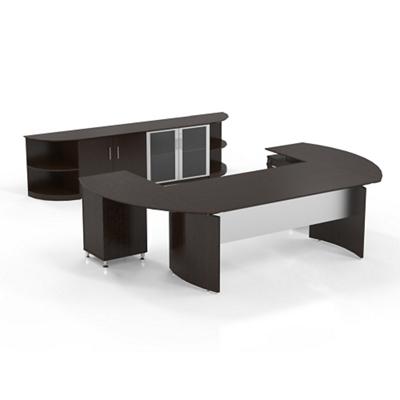 Executive U-Desk with Wall Storage