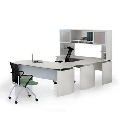 "Left U-Desk with Hutch - 63""W"