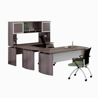"""Right Executive U-Desk with Hutch - 72""""W"""