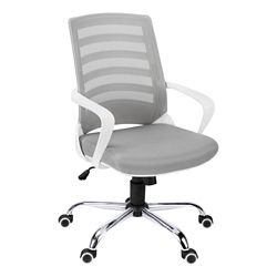 Striped Back Mesh Office Chair