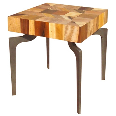 "Wood Side Table - 20""W"