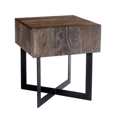 "Solid Wood Side Table - 20""W"