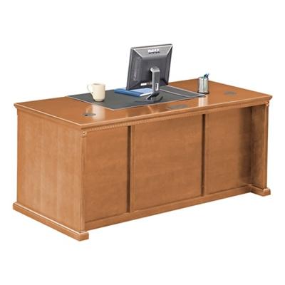 """Wheat Oak Double Pedestal Desk - 68.25""""W"""