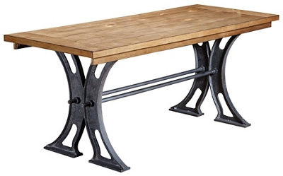"""Writing Table Desk with Cast Metal Base - 72""""W"""