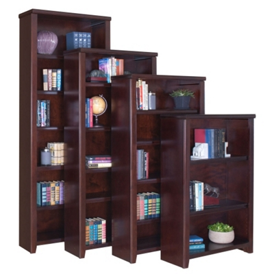 "Cherry 60"" Open Bookcase"