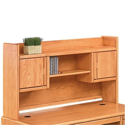 "Medium Oak Two Door Hutch - 67""W"