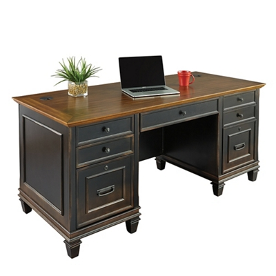 "Double Pedestal Desk - 69.5""W"