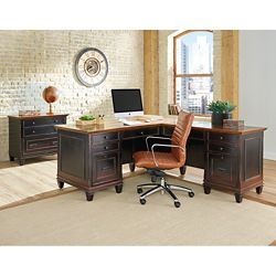 L-Desk with Right Return and Lateral File Set
