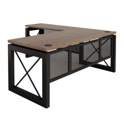 "Urban Reversible Compact L-Desk - 60""W x 80""D"