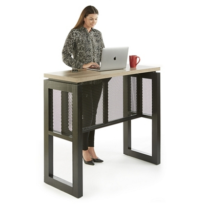"Urban Compact Standing Height Desk - 48""W x 21""D"
