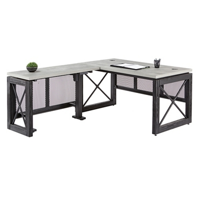 "Adjustable Height L-Desk with Left Return - 72""W"
