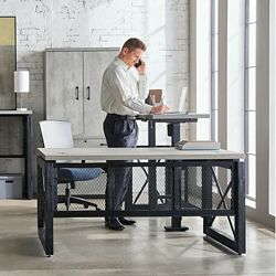 Urban L-Desk with Left Return Office Suite with Storage