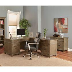 L Desk and File Set