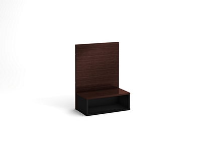"18"" Wide King Floating Nightstand with Backer"