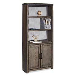 "Westgate 72""H Five-Shelf Bookcase with Doors"