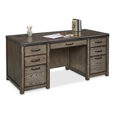 """Westgate Double-Pedestal Desk - 68""""W x 28""""D"""