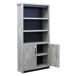 """Urban Five Shelf Bookcase with Lower Doors - 72""""H"""