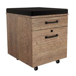 "Urban 18""W Two Drawer Mobile File Pedestal with Cushion Top"