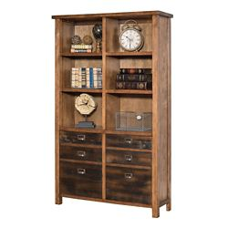"Ten Shelf Bookcase with Two Doors - 72""H"