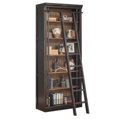 "Toulouse Six Shelf Bookcase with Ladder - 94""H"
