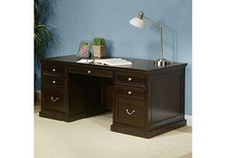 "Espresso 72"" Wide Double Pedestal Executive Desk"