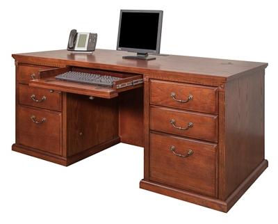 "Double Pedestal Desk - 68""W"