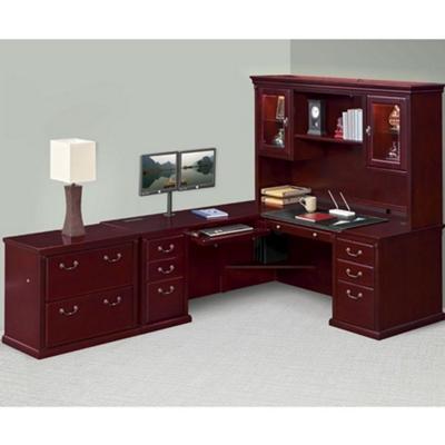 Left L-Desk Hutch and File Set