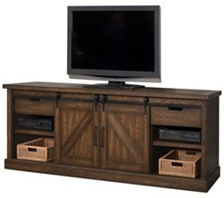 "Media Console with Sliding Doors - 86""W"