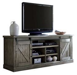 """Media Console with Sliding Doors - 86""""W"""