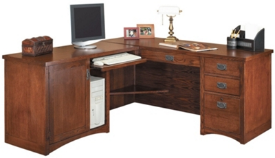 "Left Return L-Desk - 64""W x 74""D"