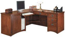 "Left Return L-Desk - 64""W x 74""D"