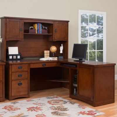 Mission Finish L-Desk with Right Return