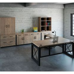 Urban L-Desk with Storage Set