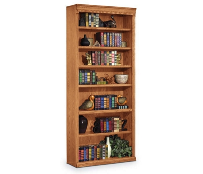 "Wheat Oak 84"" Seven Shelf Bookcase"