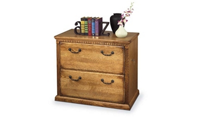 Wheat Oak Two Drawer Lateral File