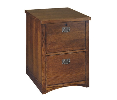 Mission Finish Two Drawer Vertical File