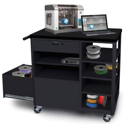 Mobile Two Drawer 3D Printer Cart