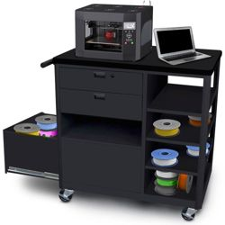 Mobile Three Drawer 3D Printer Cart