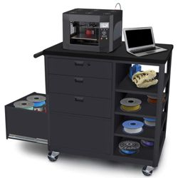 Mobile Four Drawer 3D Printer Cart