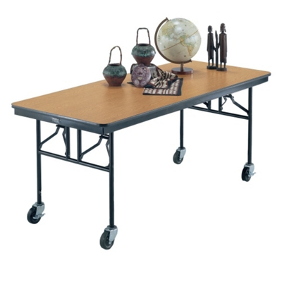 """Standing Height Mobile Folding Buffet Table - 72""""W x 30""""D"""
