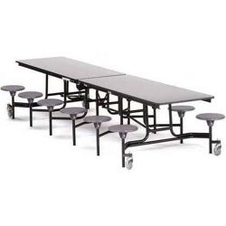 "12' Cafeteria Table with 12 Stools - 30""W x 145""D"