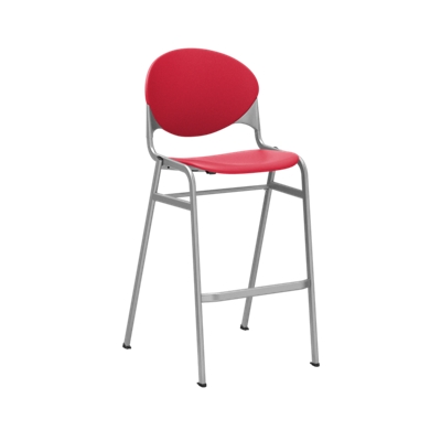 Armless Bar Height Stool with Metallic Frame