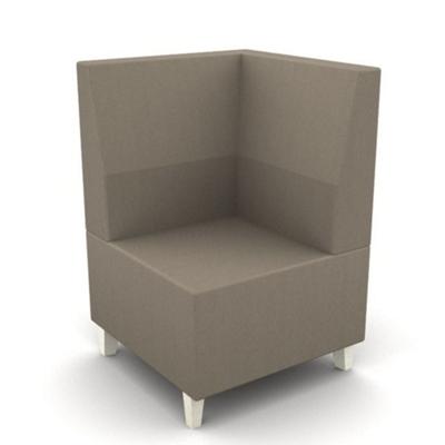 Modern Fabric or Vinyl Corner Chair