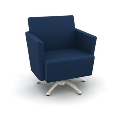 Modern Fabric or Vinyl Swivel Club Chair