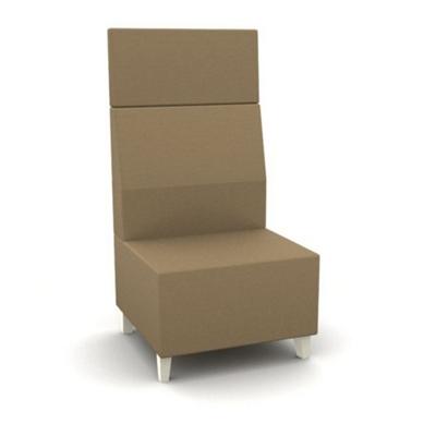 Modern High Back Fabric or Vinyl Armless Chair