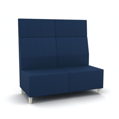 Amazing Modern High Back Vinyl Armless Loveseat By National Office Home Interior And Landscaping Ologienasavecom